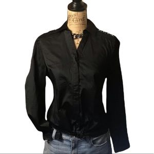 The limited black button down long sleeved shirt